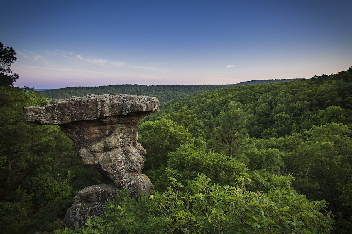 rock formation in park in chicot county arkansas
