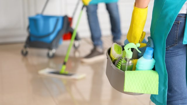Cleaning supplies to disinfect house