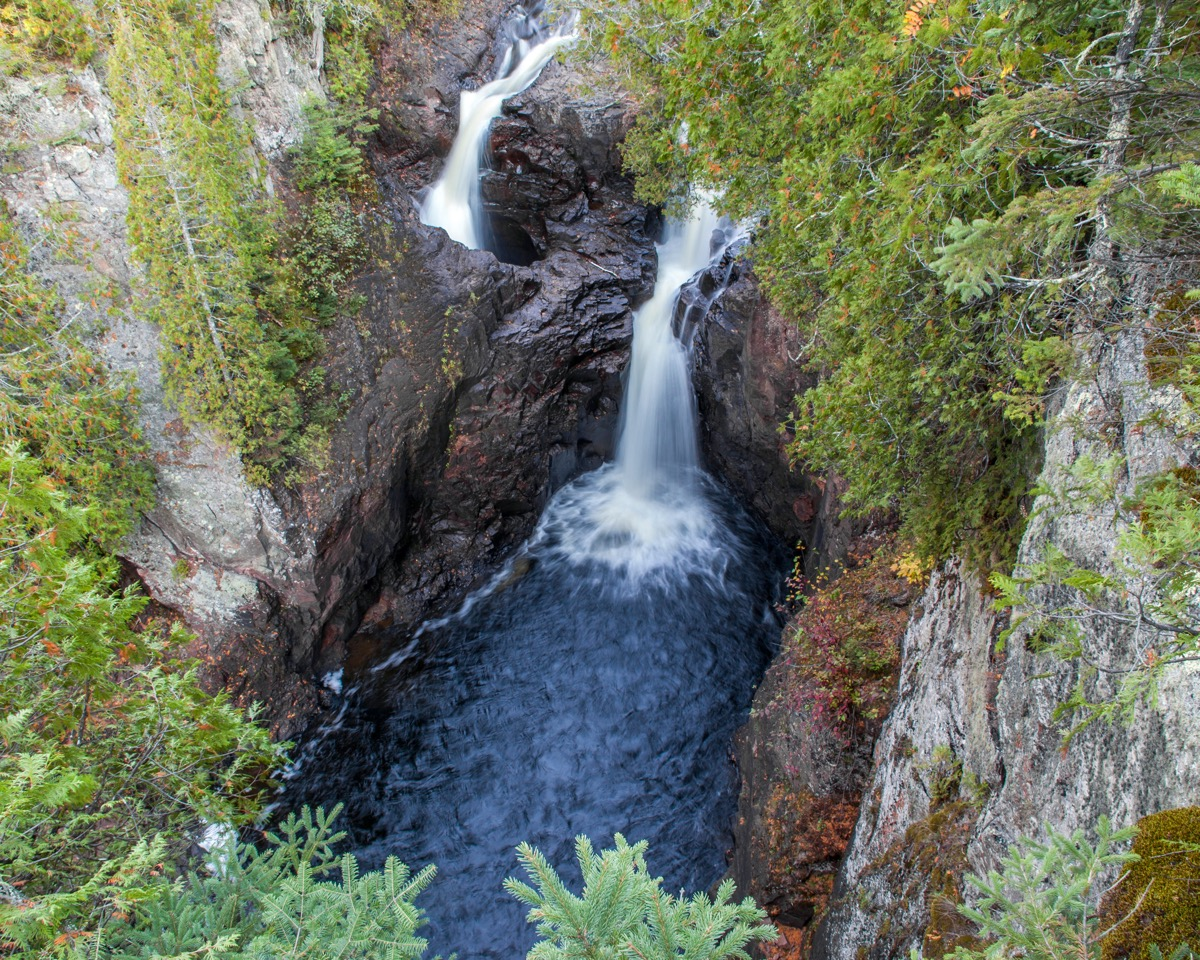Magney State Park, Devil's Kettle Water Fall on the Brule River