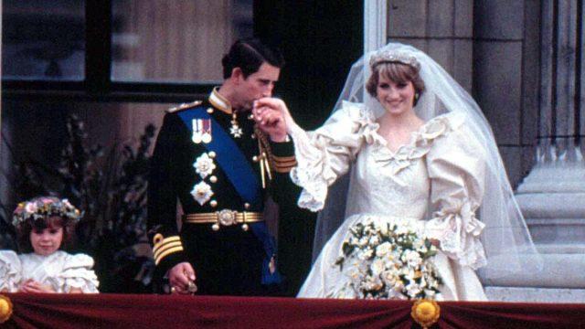 Princess Diana With Prince Charles At Their Wedding 7-20-1981.