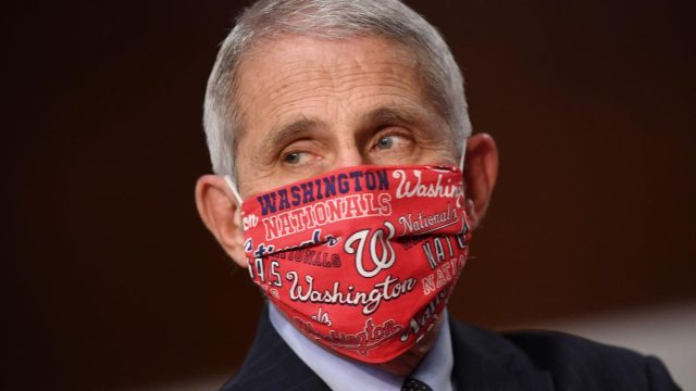 Dr. Anthony Fauci, director of the National Institute for Allergy and Infectious Diseases, prepares to testify before the Senate Health, Education, Labor and Pensions (HELP) Committee on Capitol Hill in Washington DC on Tuesday, June 30, 2020.