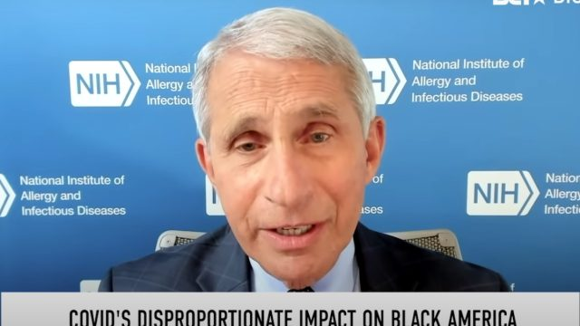 dr. fauci discusses black community and covid on bet in july 2020