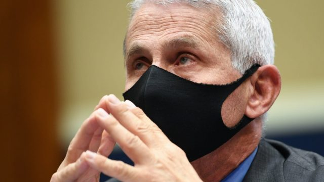 Director of the National Institute for Allergy and Infectious Diseases Dr. Anthony Fauci wears a face mask while he waits to testify before the House Committee on Energy and Commerce on the Trump Administration's Response to the COVID-19 Pandemic, on Capitol Hill in Washington, DC on Tuesday, June 23, 2020