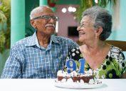 older man and woman celebrating 91st birthday