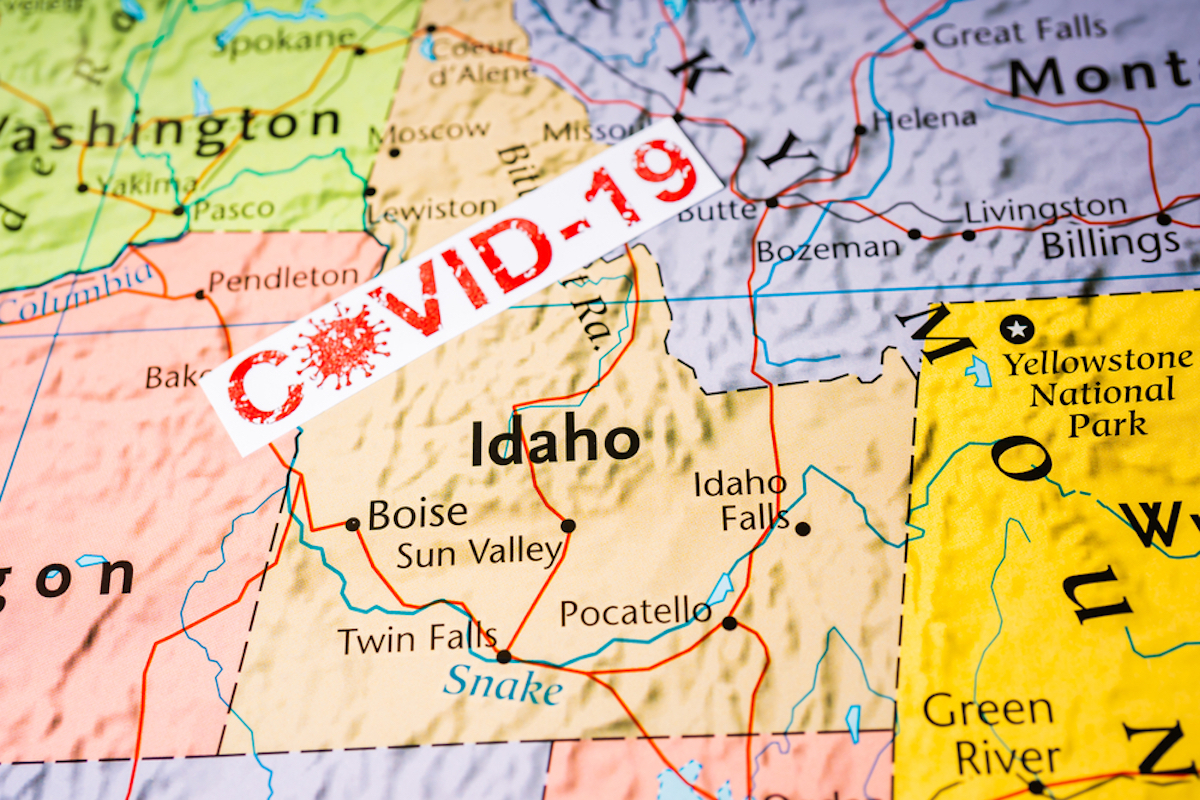 map of idaho showing covid outbreak