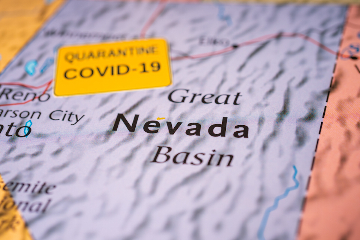 nevada map shows covid outbreak