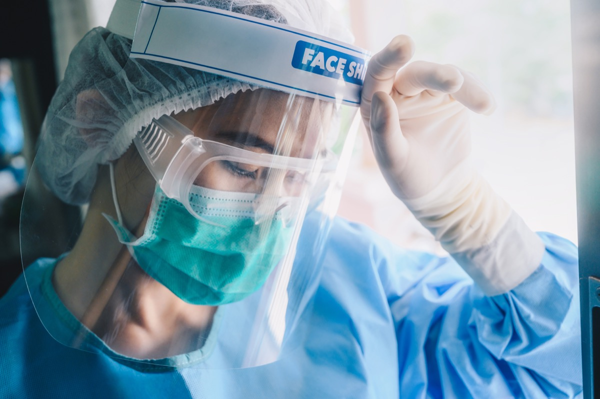 Health care worker wearing PPE