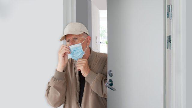 older white man putting