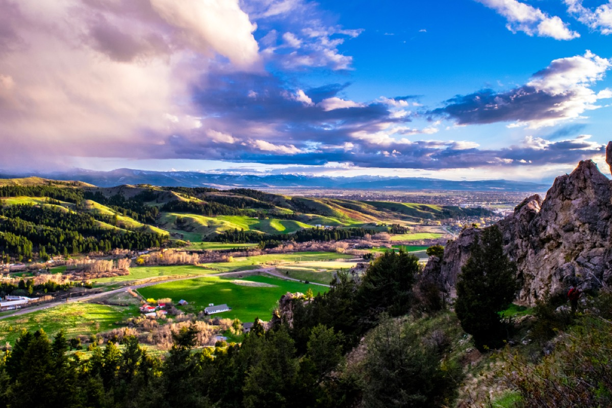 View from mountain in montana