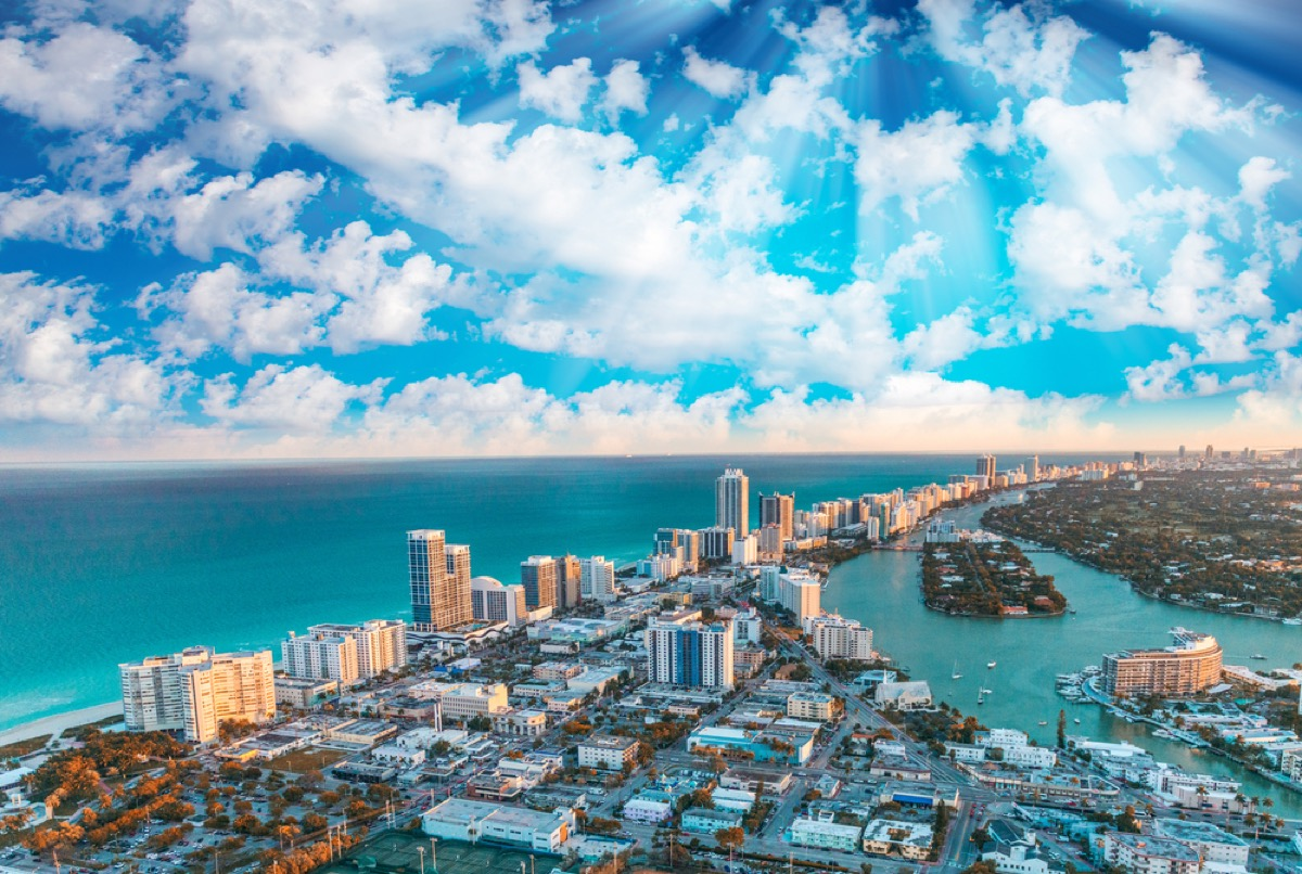 cityscape photo of Miami, Florida from above