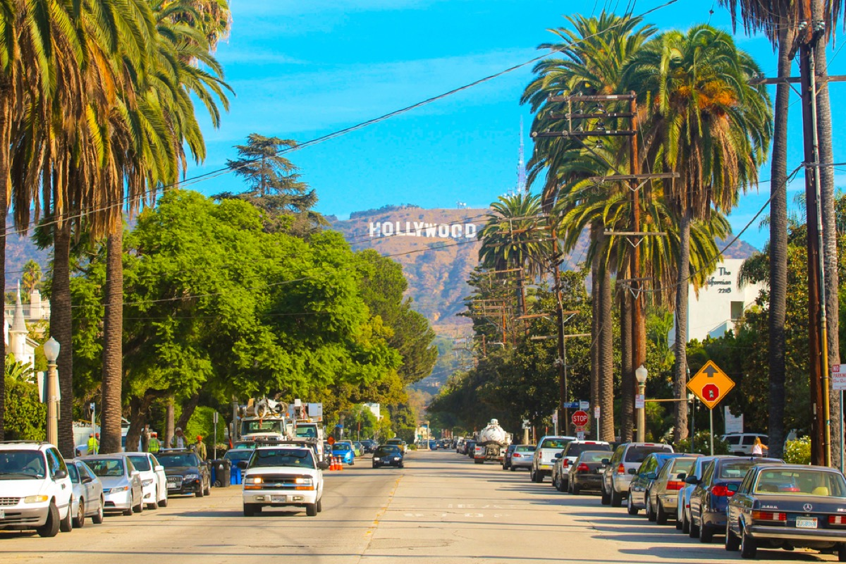 hollywood sign in los angeles california