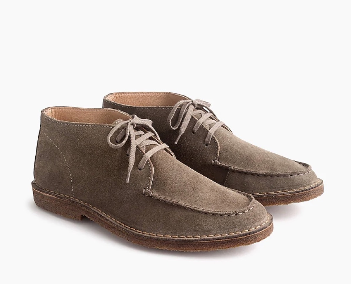 men's lace up suede boots