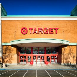 The front entrance of a Target store