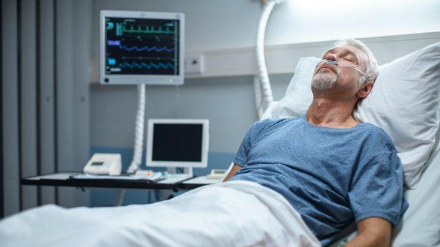 older white man in hospital for coronavirus