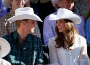 Prince William and Catherine Middleton, Duchess of Cambridge, kick off the the Calgary Stampede in Calgary, Alberta, on July 8, 2011