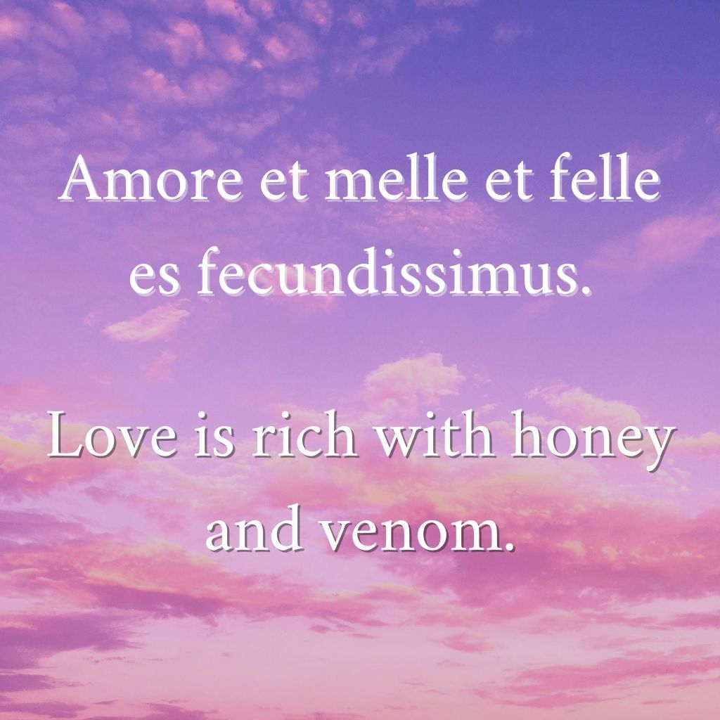 Love is rich with honey and venom.