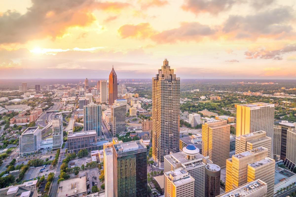 Atlanta Georgia at sunset