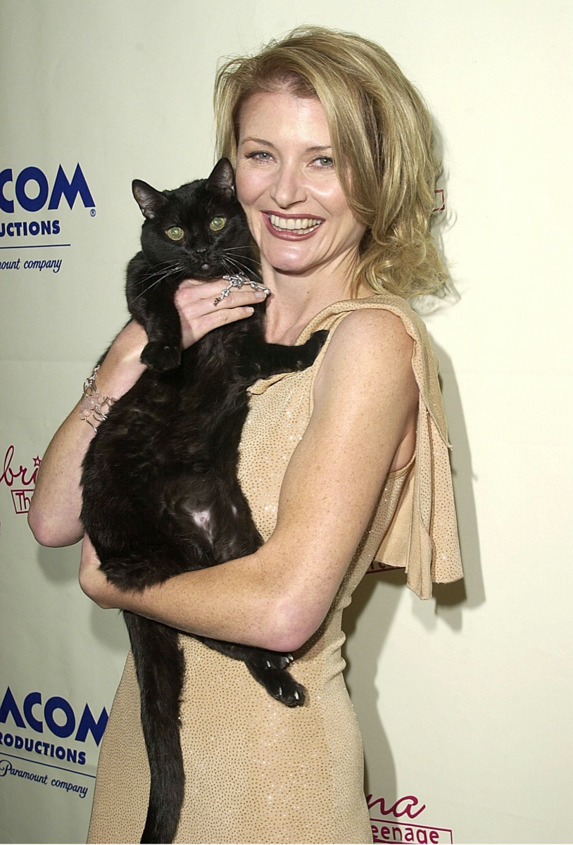 Beth Broderick and Salem the Cat