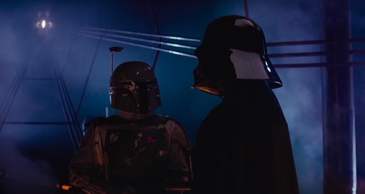 Boba Fett and Darth Vader in Empire Strikes Back