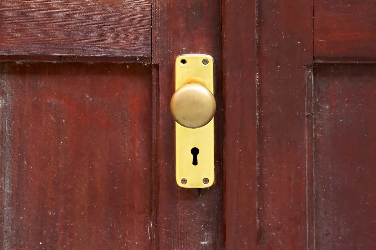 Copper doorknob