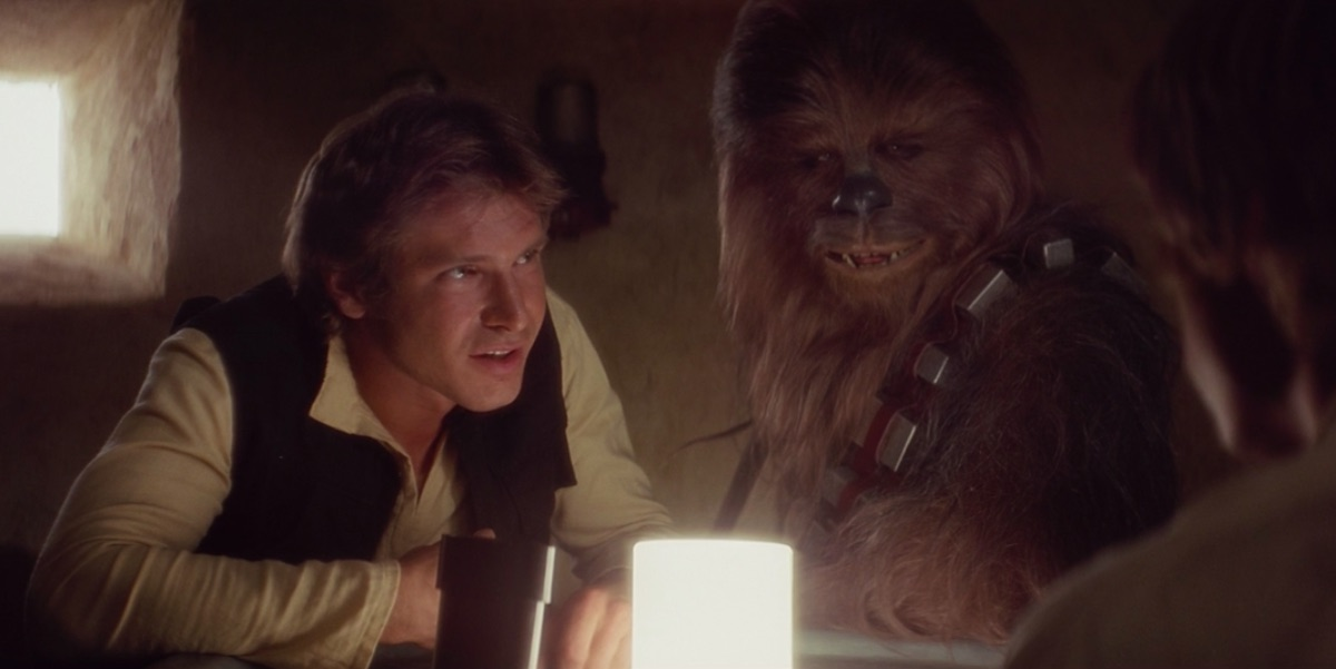 Han Solo and Chewbacca in A New Hope