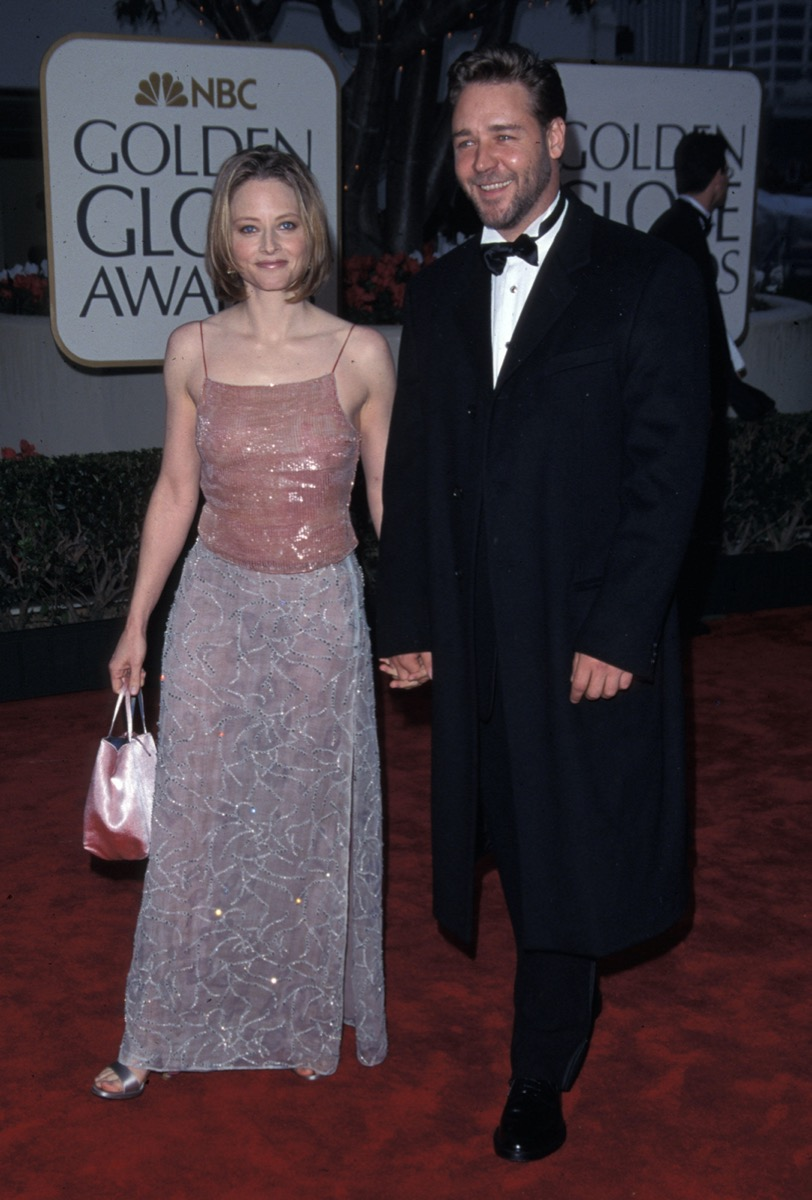Jodie Foster and Russell Crowe at the 2000 Golden Globes