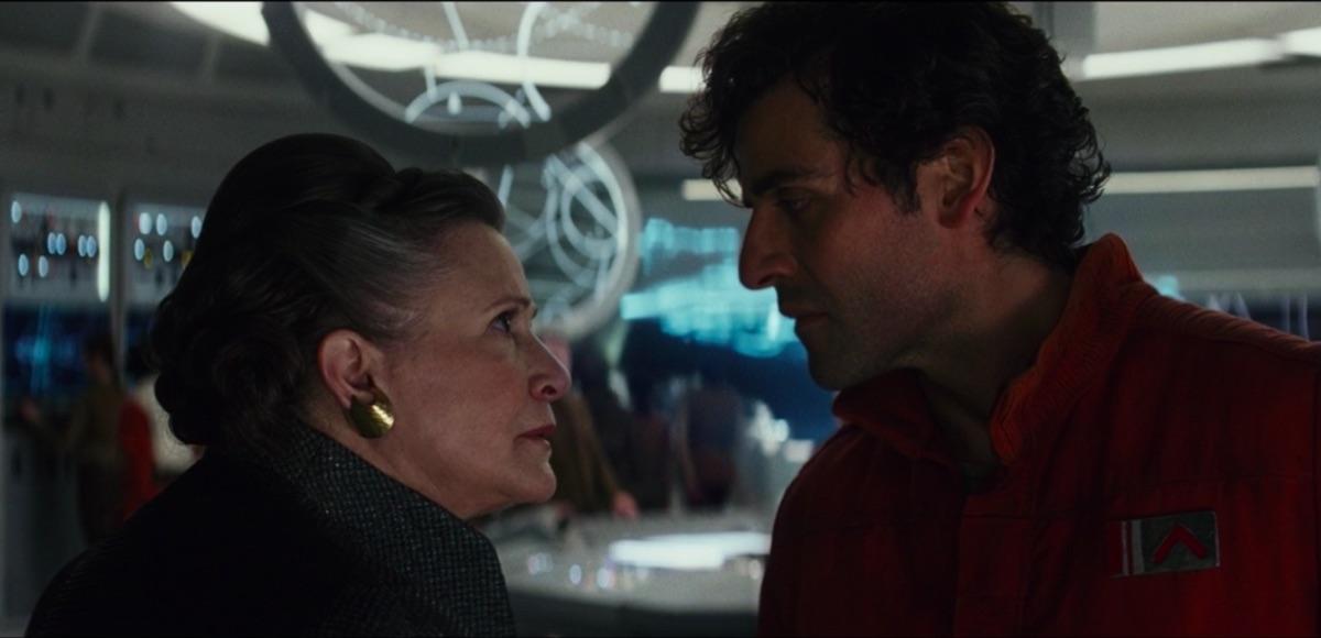 Leia and Poe in The Last Jedi