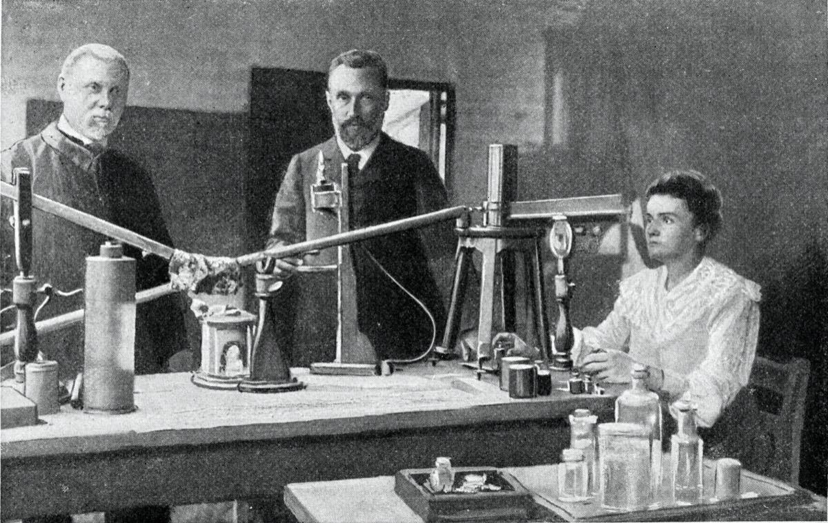 Marie Curie vintage illustration