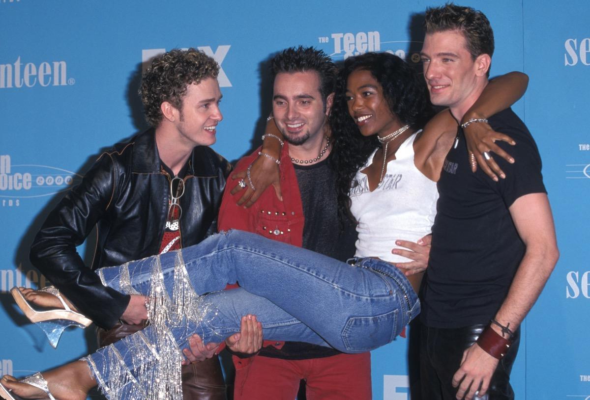 Justin Timberlake, Chris Kirkpatrick, Ananda Lewis, and JC Chasez