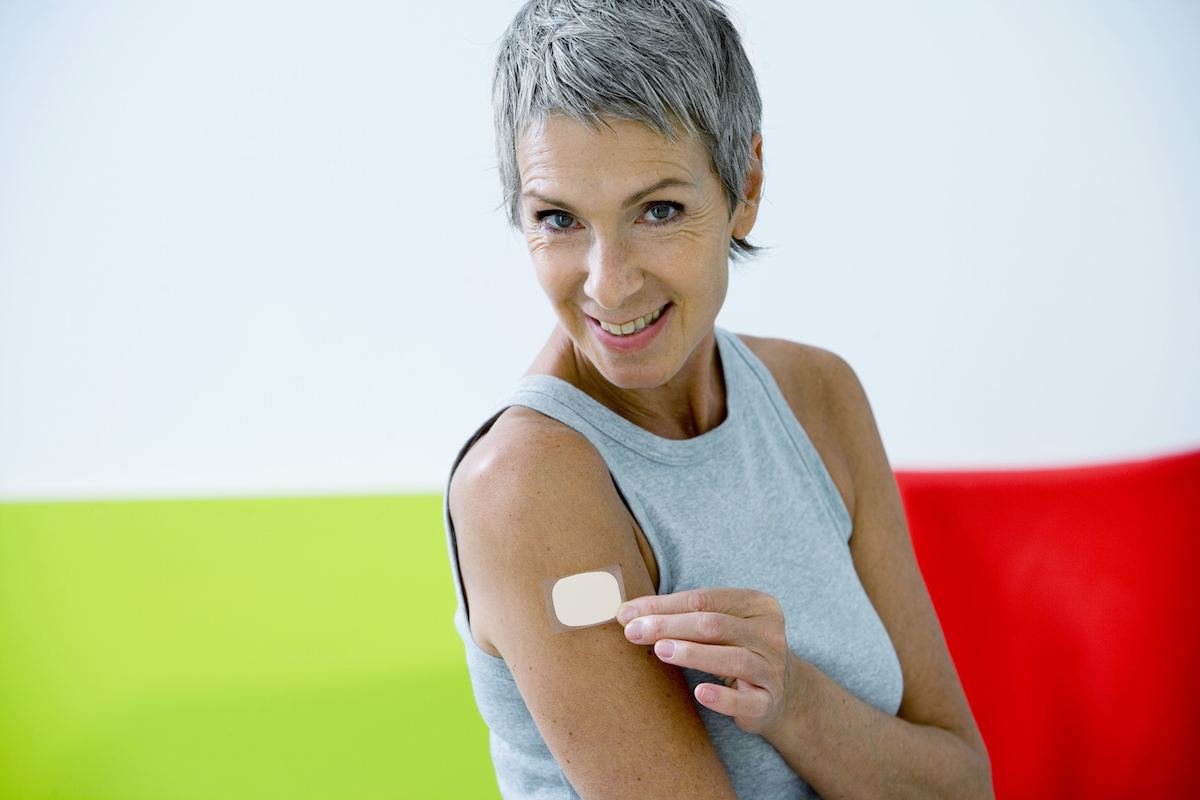 Older woman nicotine patch