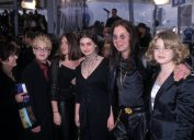 The Osbourne family a the 2000 Grammys