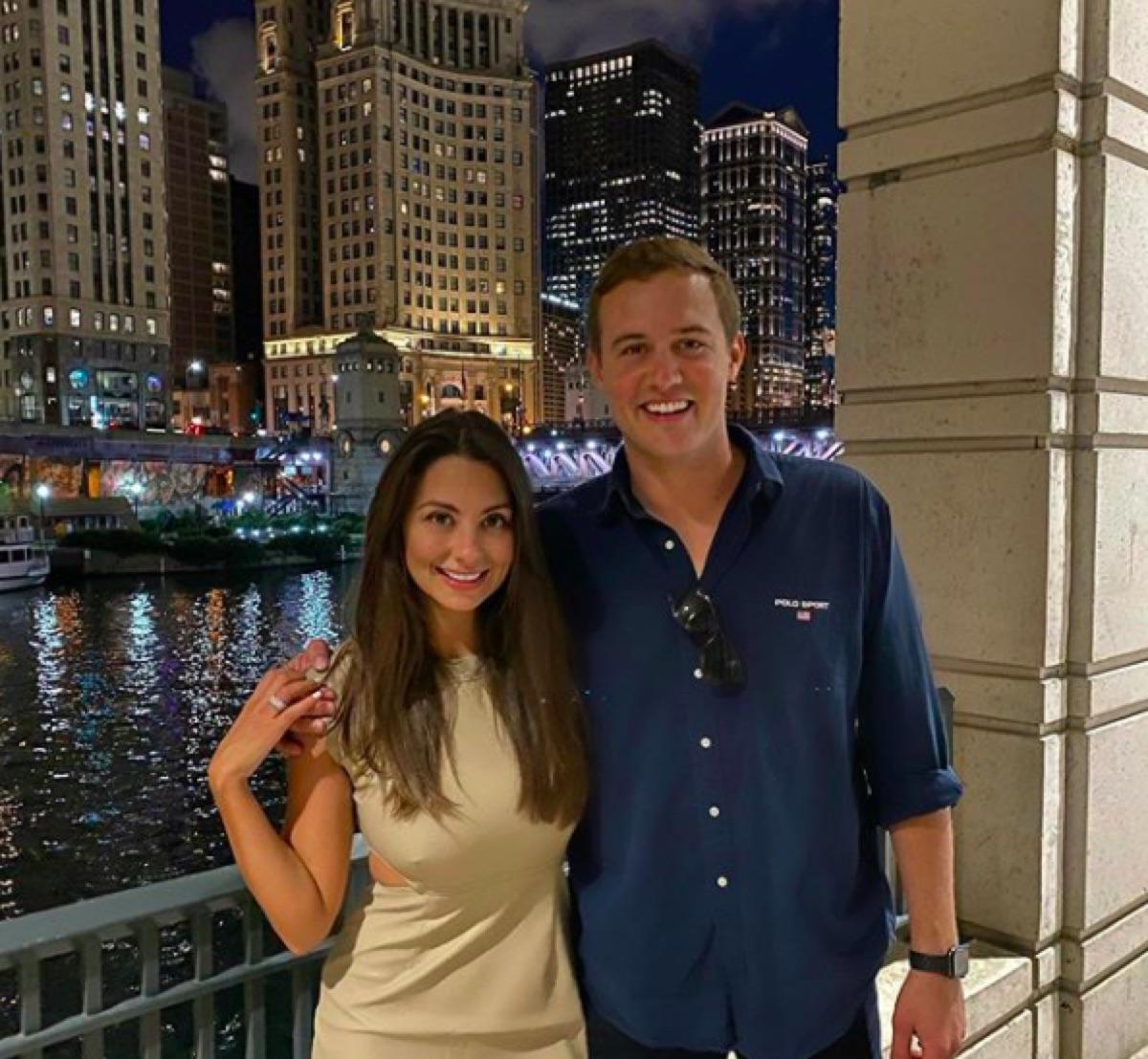 Peter Weber and Kelley Flanagan