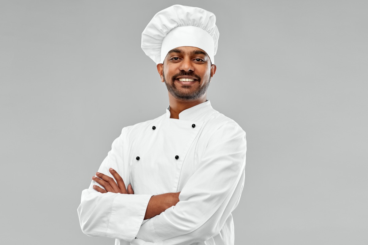 South Asian male chef