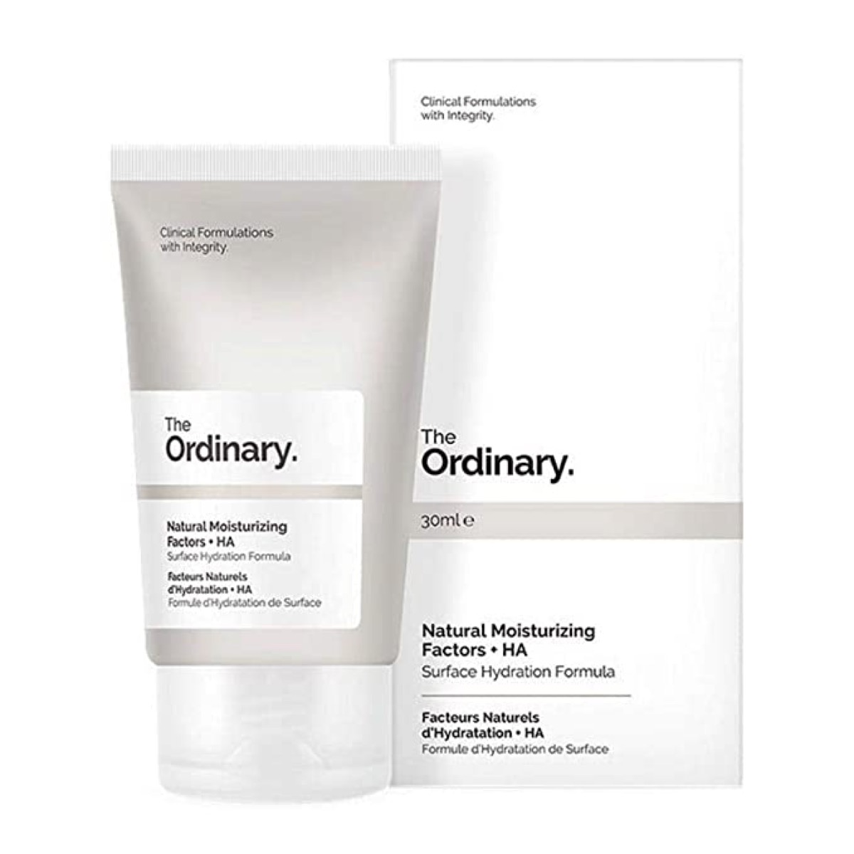 The Ordinary. Moisturizer bottle and box