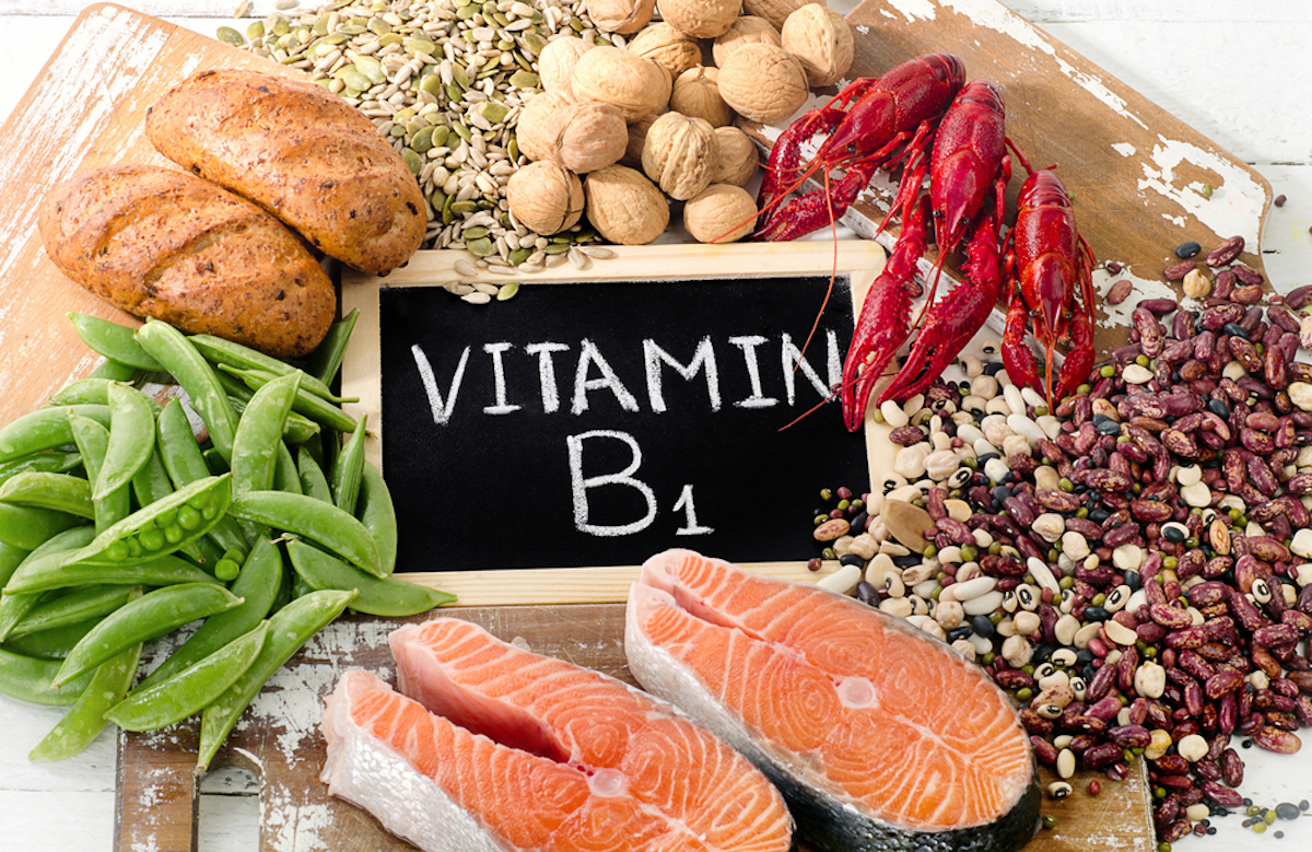 Foods Highest in Vitamin B1 (Thiamin)- top view