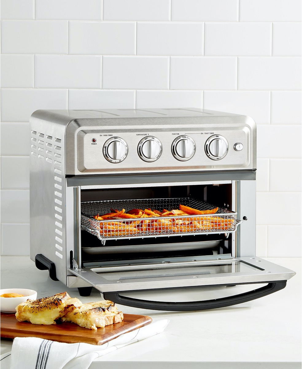 air fryer toaster oven full of vegetables