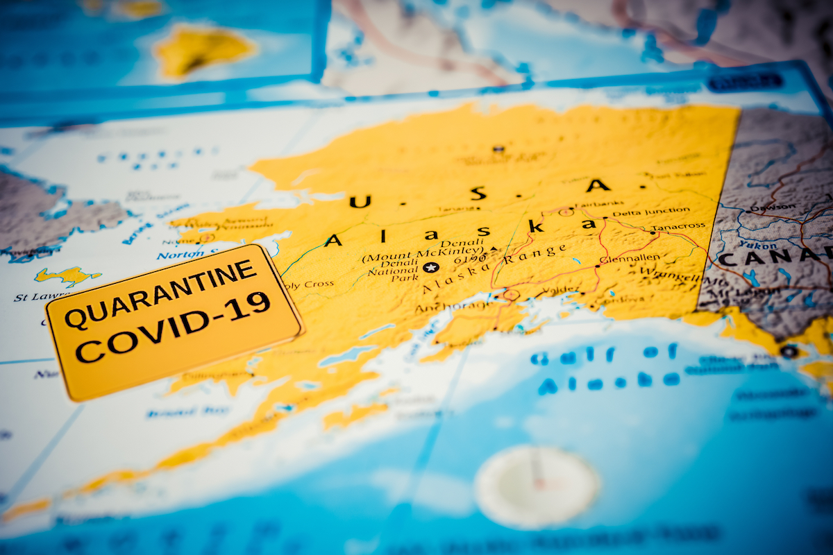 alaska on map with covid indicator