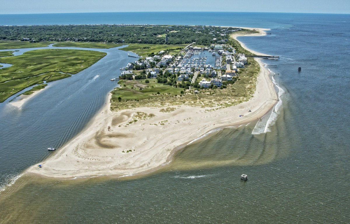 Bald Head Island, historically Smith Island, is a village located on the east side of the Cape