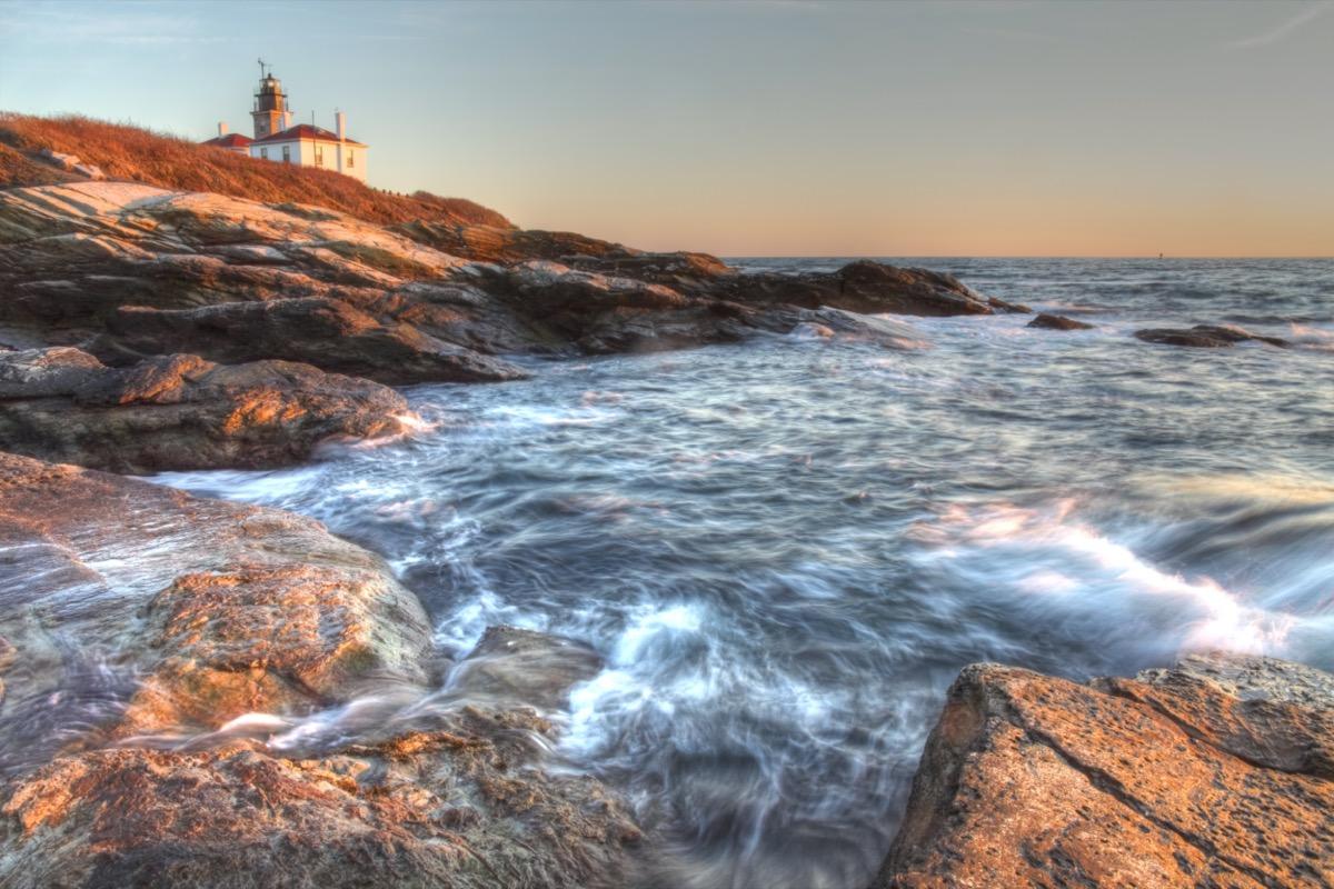 Beavertail Lighthouse in jamestown rhode island