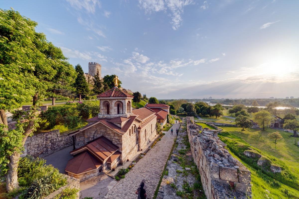 belgrade fortress in serbia