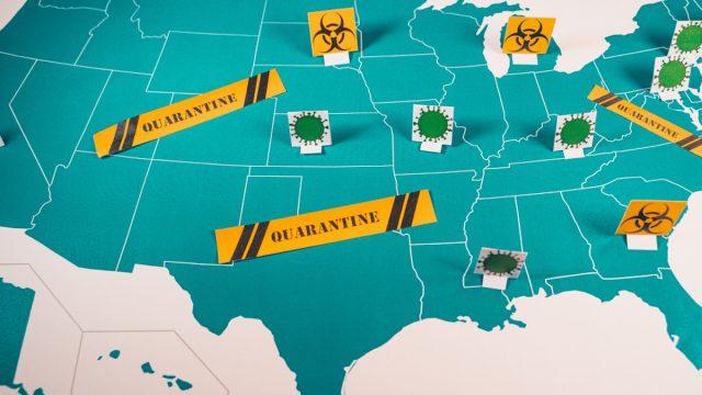 map of coronavirus hotspots popping up