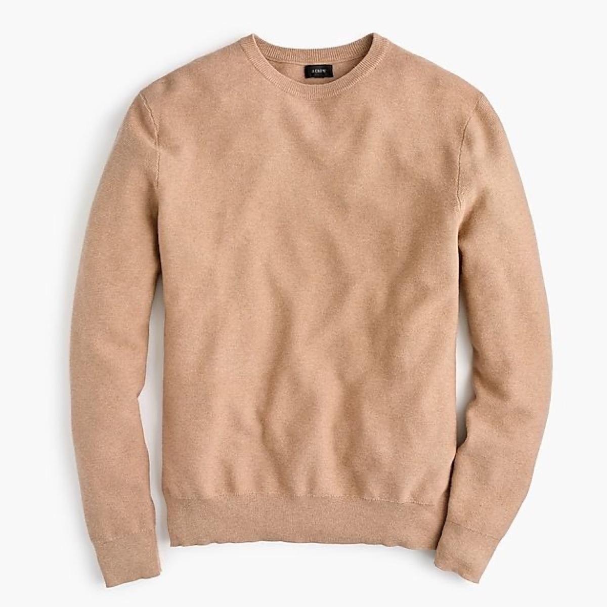 tan crewneck sweater