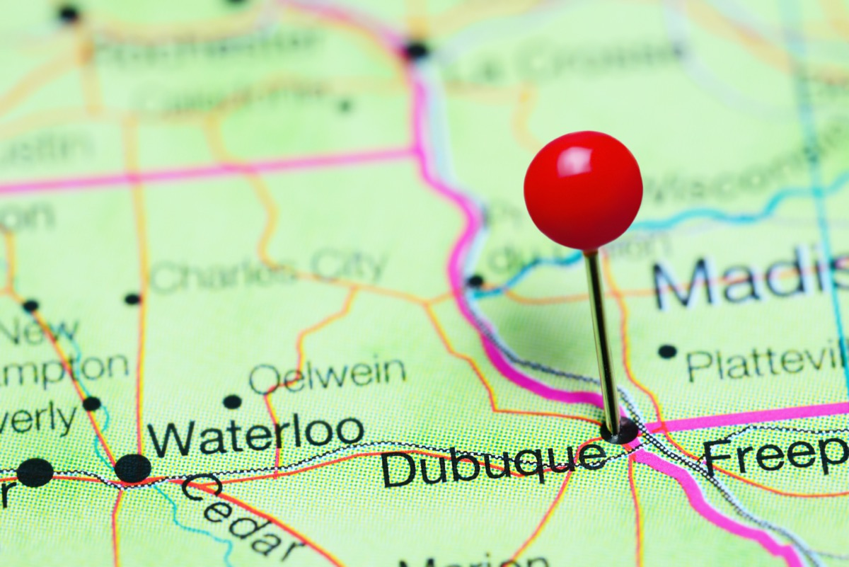 map of dubuque