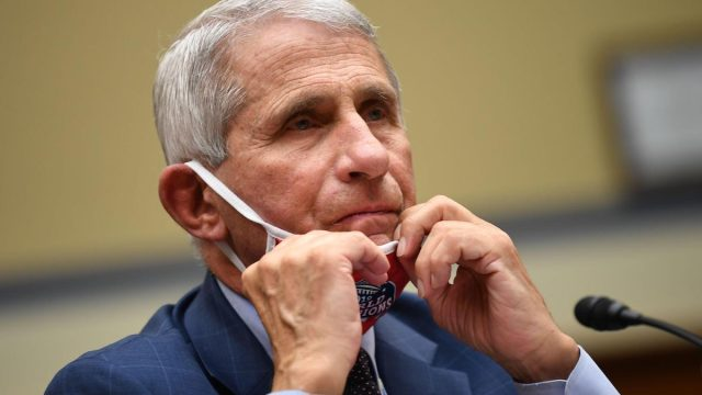 Dr. Anthony Fauci, director of the National Institute for Allergy and Infectious Diseases, prepares to testify before a House Subcommittee on the Coronavirus Crisis hearing on a national plan to contain the COVID-19 pandemic, on Capitol Hill in Washington, DC on Friday, July 31, 2020.