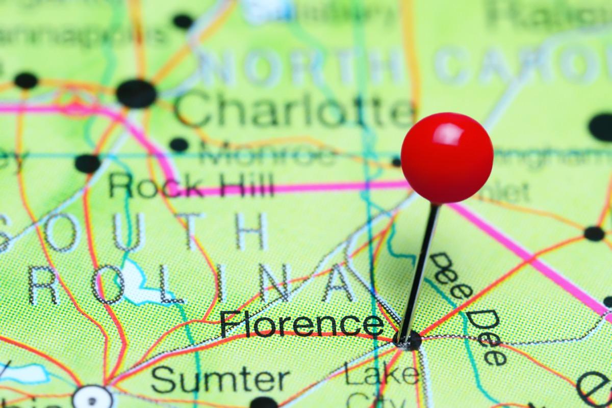 map of florence, south carolina