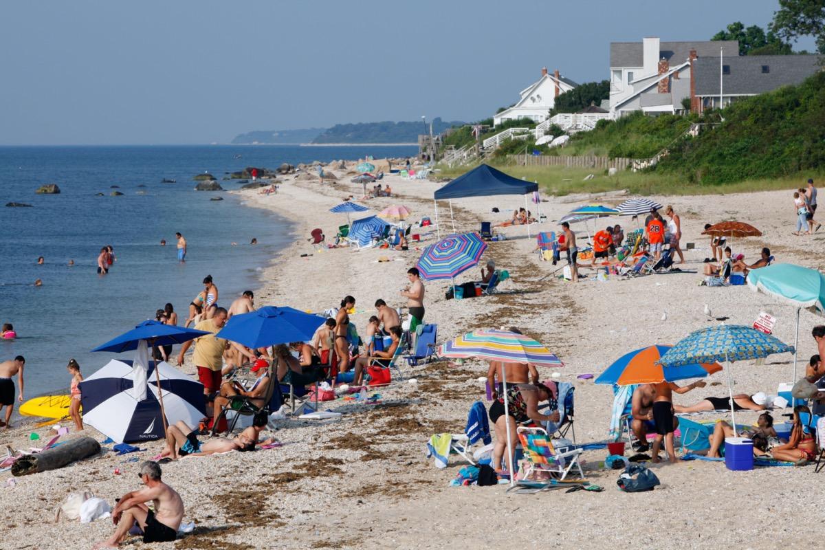 Beach on Long Island Sound, Greenport, New York
