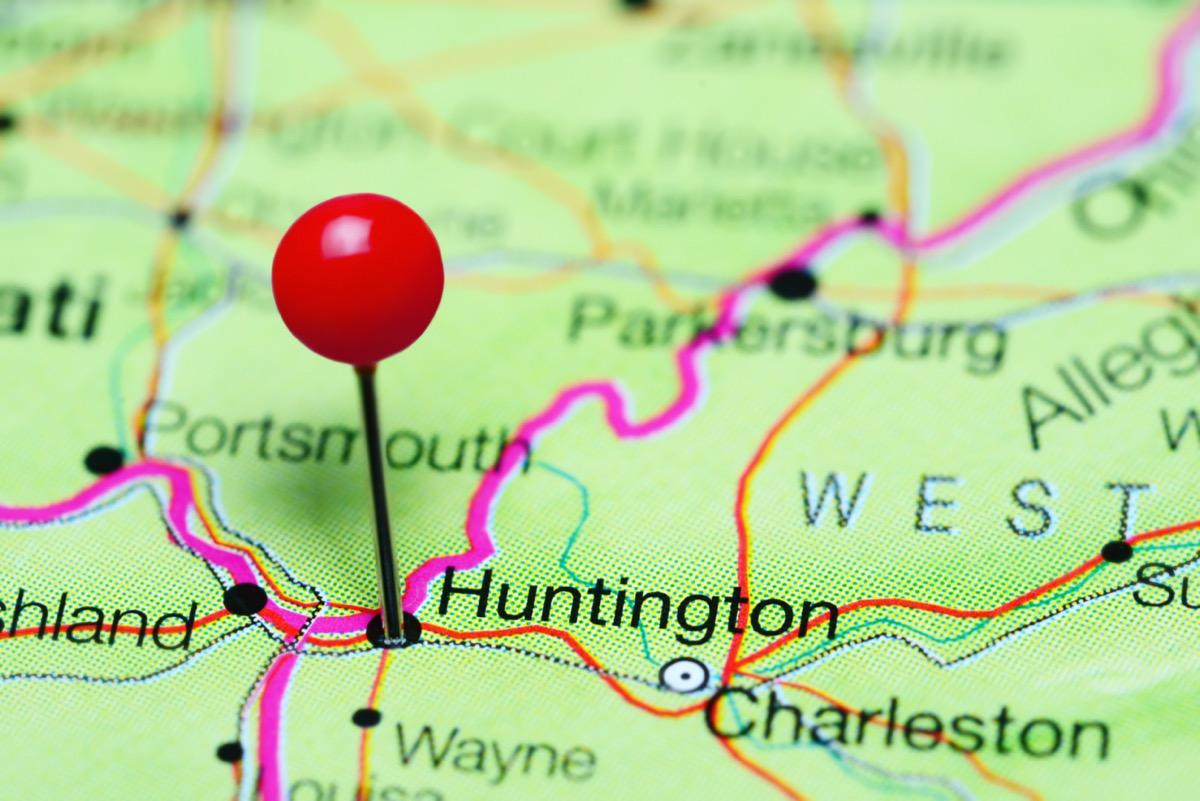 map of huntington