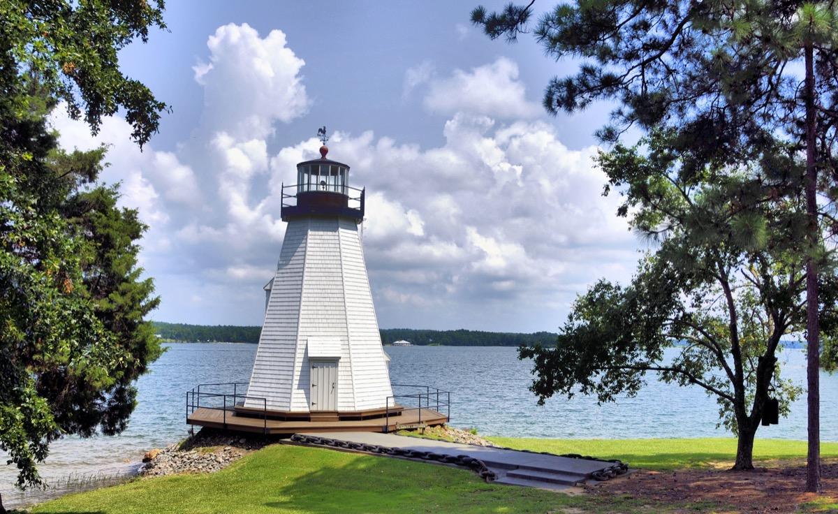 lighthouse at lake martin in alabama