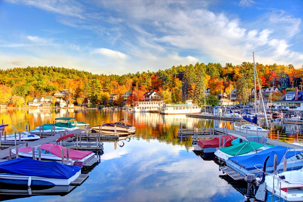 Lake Sunapee is located within Sullivan County and Merrimack County in western New Hampshire, the United States. It is the fifth-largest lake located entirely in New Hampshire.