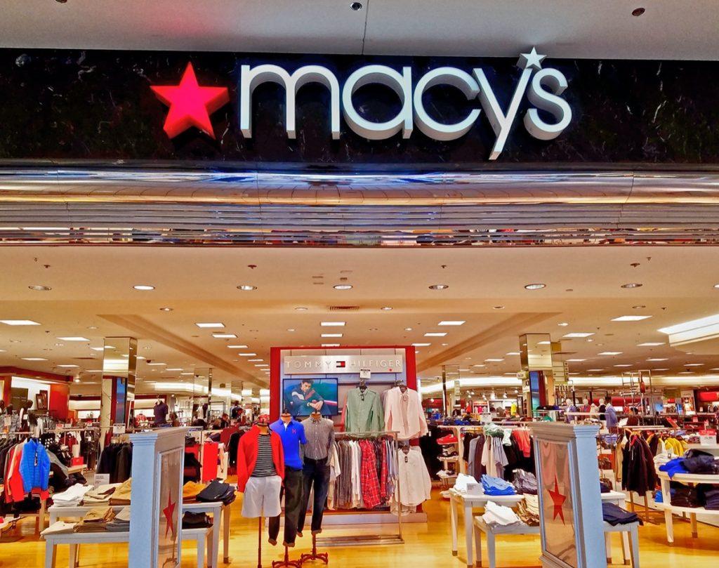 macy's entrance in mall